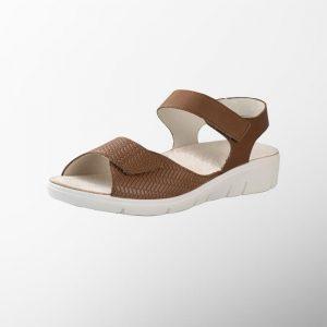 Ортопедични обувки | Дамски ортопедични сандали Honey Cognac Solidus | ОРТОТЕХ