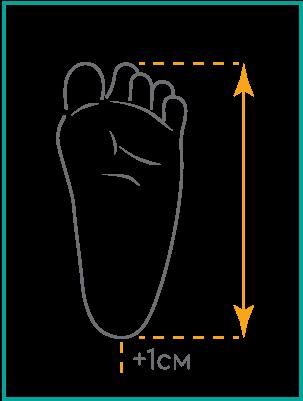 Ортопедични обувки | Детски ортопедични обувки Memo пиктограма за размер