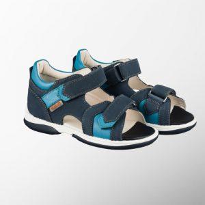 Ортопедични обувки | Детски ортопедични сандали Kris Blue – Memo | ОРТОТЕХ