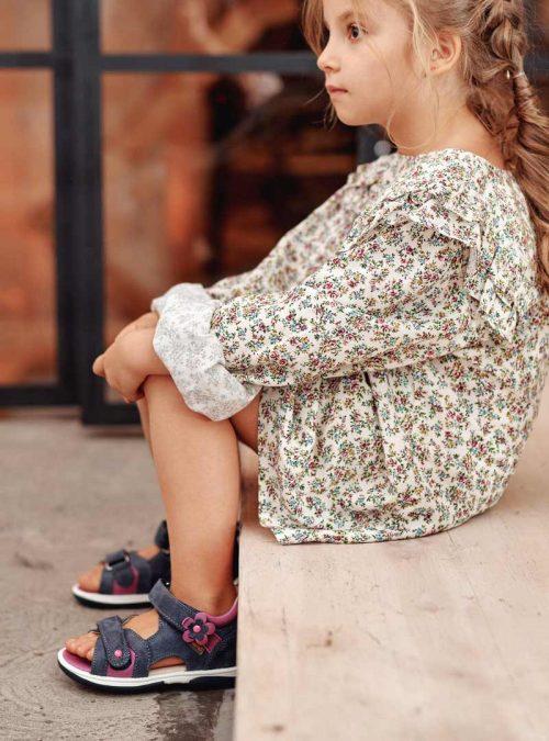 Ортопедични обувки | Детски ортопедични сандали Kristina Violet – Memo 03 | ОРТОТЕХ