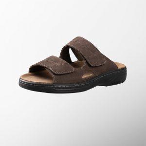 Ортопедични обувки | Мъжки ортопедични чехли Ranch Dark Brown – Solidus | ОРТОТЕХ
