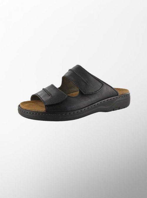Ортопедични обувки   Мъжки ортопедични чехли Softcalf Black – Solidus   ОРТОТЕХ