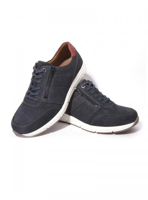 Ортопедични обувки | Мъжки ортопедични маратонки Kai Night Blue Solidus 02 | ОРТОТЕХ