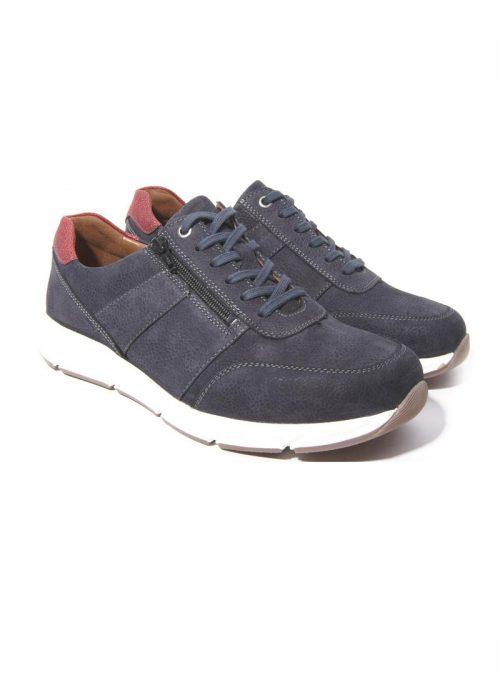 Ортопедични обувки | Мъжки ортопедични маратонки Kai Night Blue Solidus 03 | ОРТОТЕХ