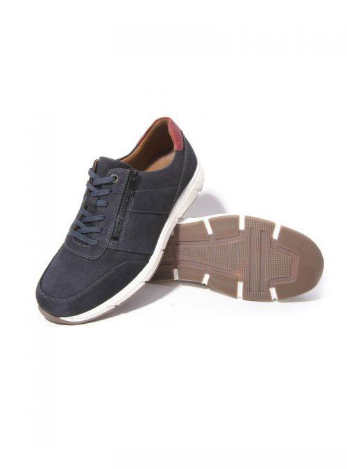 Ортопедични обувки | Мъжки ортопедични маратонки Kai Night Blue Solidus 04 | ОРТОТЕХ
