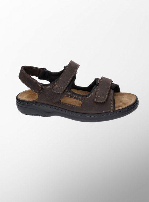 Ортопедични обувки   Мъжки ортопедични сандали Mash Dark Brown – Solidus 02   ОРТОТЕХ
