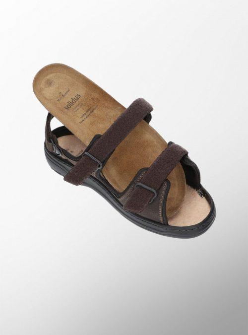 Ортопедични обувки   Мъжки ортопедични сандали Mash Dark Brown – Solidus 03   ОРТОТЕХ