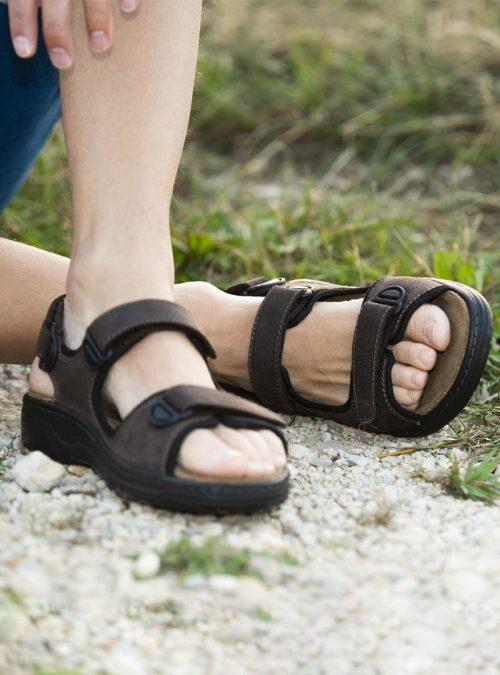 Ортопедични обувки   Мъжки ортопедични сандали Mash Dark Brown – Solidus 04   ОРТОТЕХ
