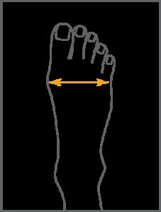 Ортопедични обувки Diawin | Пиктограма за размер
